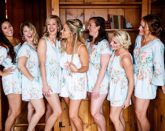 Dreamy Angel Song Mismatched Rompers By Silkandmore - Bridesmaids Gifts, Bridesmaids Rompers, Bridal Party Rompers, Getting Ready Rompers