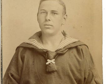 CDV of a sailor in uniform. carte de visite. German Navy
