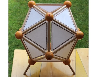Table Lamp, icosahedron