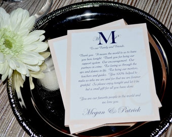 Monogram Collection - Thank You Place Setting Card