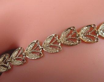 """Estate Jewelry - ELEGANT """"Rare"""" Vintage 14KT Beverly Hills Gold Bracelet  -  14KT Filigree Bracelet - Filigree 14kt Gold Bracelet"""