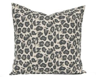 Leopard Pillow - Euro Sham Throw Pillow Covers, Animal Print Print Pillow, Leopard Spot, Sofa Pillows - Throw Pillow Cover - Animal Bedding