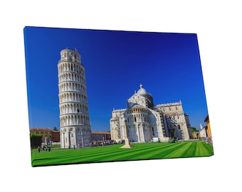 Castles and Cathedrals Leaning Tower and Pisa Cathedral Gallery Wrapped Canvas Print