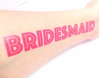 Bridesmaid Gift - Bachelorette Party Favor - Gift for Bridesmaid - Temporary Tattoo  - Bachelorette Party Tattoo - Hangover Kit Survival Kit