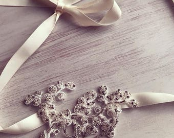 Lace hairband, wedding accessories, wedding hair accessories, bridal hairband, wedding hairband, crystal rhinestone, lace headband, headband
