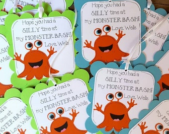 Silly Monster Favor Tags
