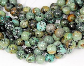 African Turquoise Jasper 8mm round beads -15.5