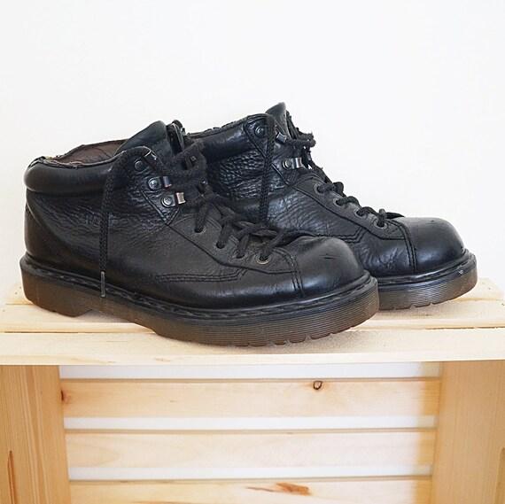 Vintage Size men's US Martens Dr boots 10 lace black 80s leather up 90s qEPvEr