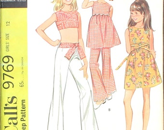UNCUT Girls  Dress or Top and Pants with Scalloped Edging Size 12
