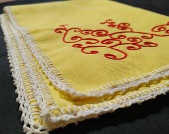 Vintage hand towel