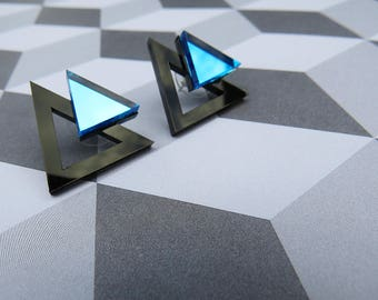 Electro Triangles - Blue