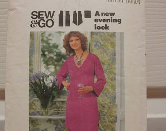 Vintage-Muster, Butt 4925, Vintage Butt, ungeschnitten Muster, verfehlt Muster, Top und Hose Muster, 1970er Muster, Damen tragen