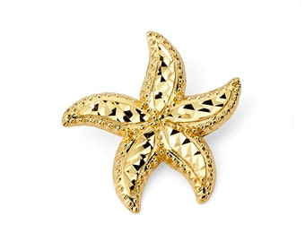 14K Gold Starfish Pendant, Starfish Pendant, Starfish Jewelry, Ocean Jewelry, Sea Jewelry, Nautical Jewelry, Starfish