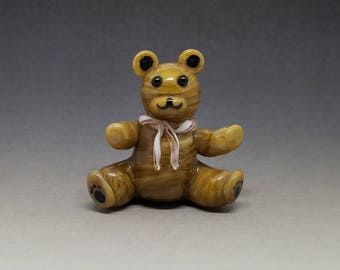 Teddy Bear Handmade Glass Figurine 4