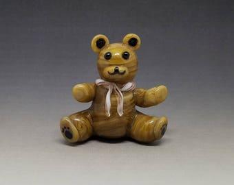Teddy Bear Handmade Glass Figurine 4