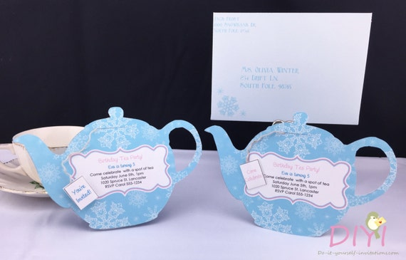 New Printable Tea Party Invitation Disney Frozen Invitations Tea WW93