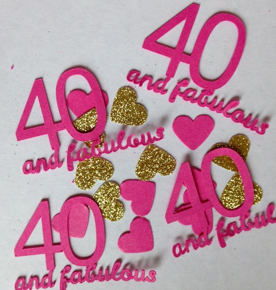 40 Fabulous Large Table Confetti 40th Birthday Party Decoration