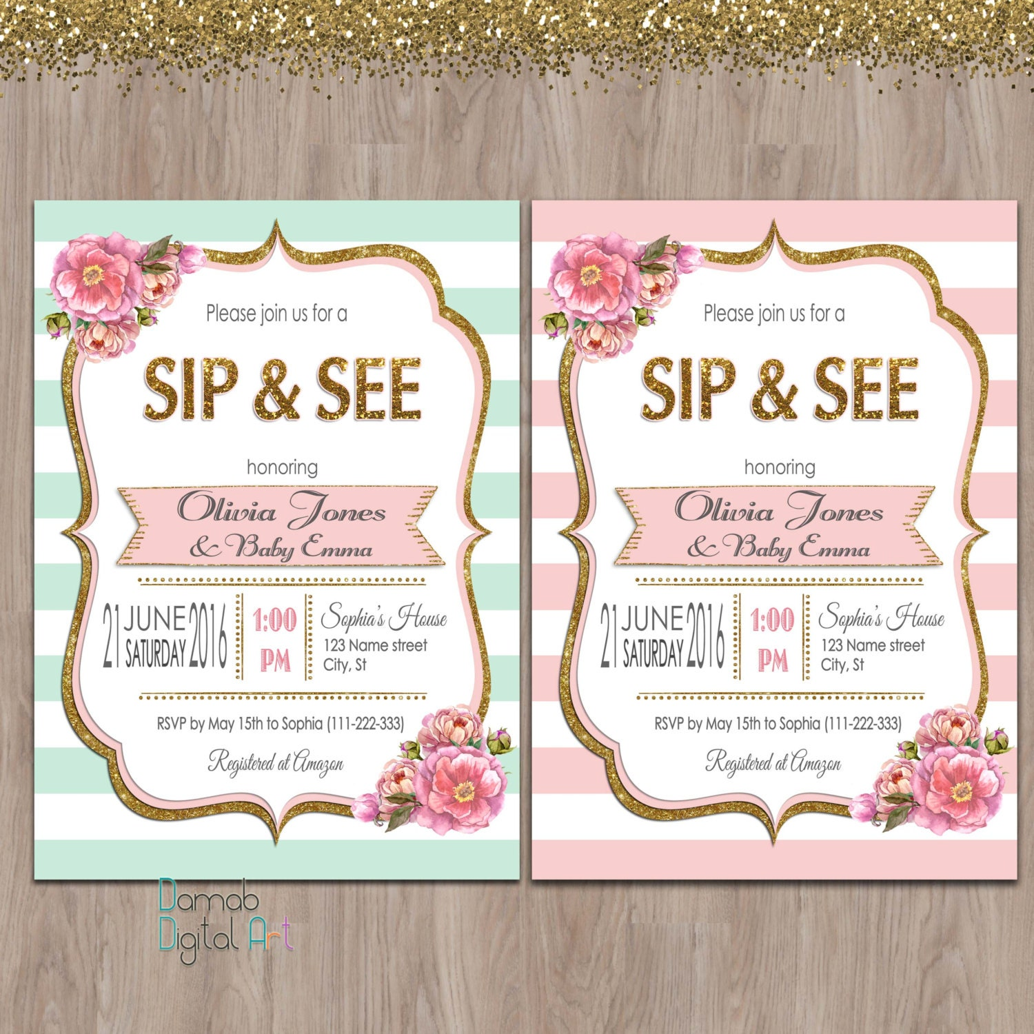 Sip and See invitation girl sip & see invitation meet the