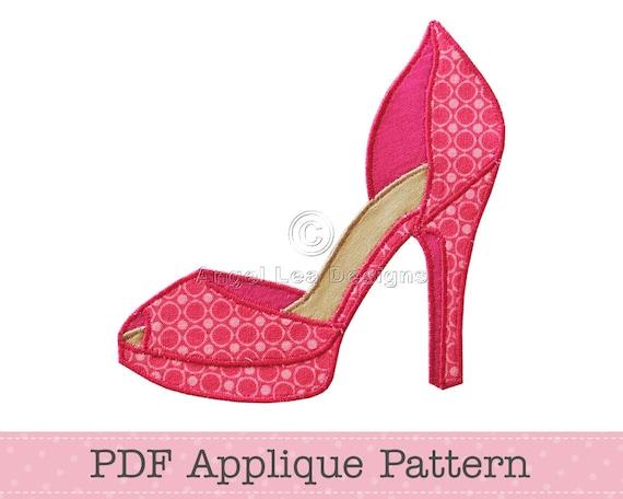 High Heel Shoe Template - Costumepartyrun