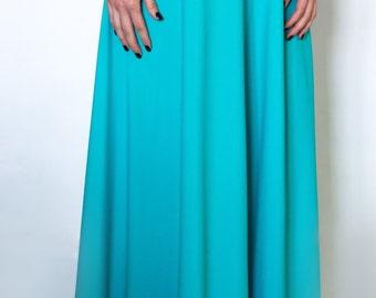 Maxi skirt, bridesmaid skirt, bridal skirt, full length skirt, floor length, long skirt, high waist skirt, bridesmaid skirt.