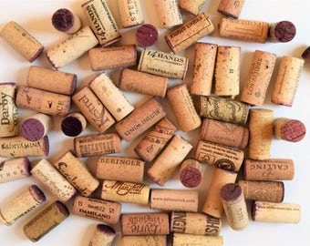 50 Red Wine Stain Corks, Wine Corks, Winery Wine Cork, Wine Corks with Logos, Bulk Wine Corks, wine corks. Recycled Wine Corks