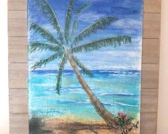Original landscape in pastel, pastel art on wood, Home decor, art by artworkbychristina