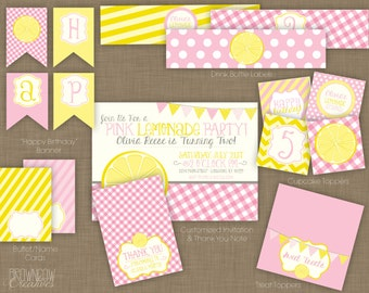 PRINTABLE Lemonade Party Decoration Kit