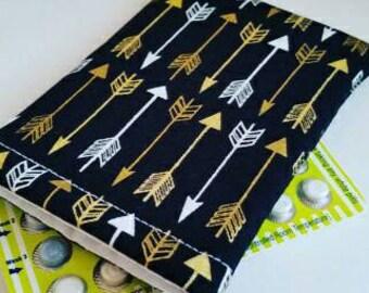 Birth Control Case Sleeve- Golden Arrows