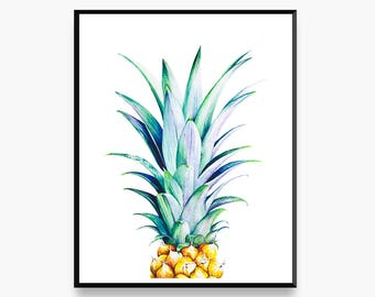 Peculiar Pineapple - Limited Edition Botanical Art Print for the Home Interior