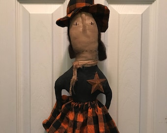 Primitive Halloween Witch Wittibog