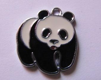 Pendant black white panda 24mmx21mm