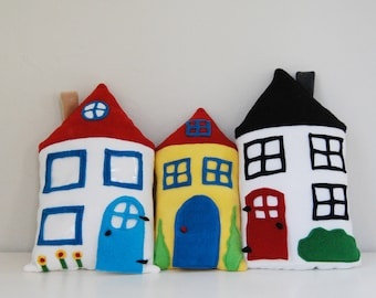 Tooth Fairy House Pillow -  Elf Houses - treasure pillows for kids