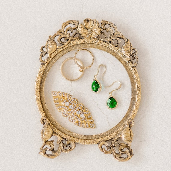 Art Deco Clear Pave Rhinestone Gold Bridal Hair Clip, Great Gatsby, Art Deco, Downton Abbey, 1920's, 1930's, Rose Gold Hair Clip, Clip ABBEY