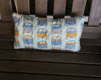 Quilted VW Bus Pillow, 17x9 inches