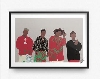 A Tribe Called Quest INSPIRED Print / Poster