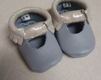 Leather Baby Moccasins (3-6 months)