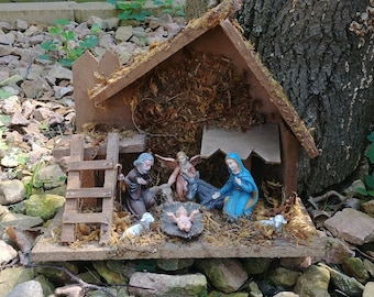 Beautiful Vintage Nativity Set Made in Italy Delta Novelty Division