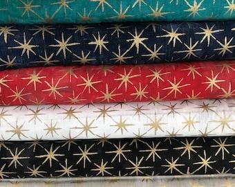 Bundle of 8 Grunge Seeing Stars Fabrics - Basic Grey - Metallic Stars - Moda Fabrics