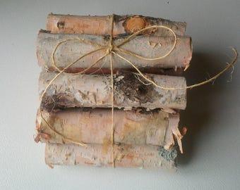 12 Miniature Firewood Logs,Birch,Holiday Decor,Christmas,Wedding Decor,Rustic,Fireplace,Birch Logs,Birch Sticks,White Birch,Wood,Decor