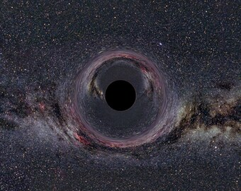 Black Hole ~ Milkyway ~ Outer Space ~ Poster Print