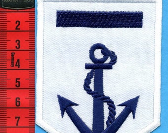 Anchor Navy patch embroidered iron or sew 6.5 x 9 cm Applique Patch