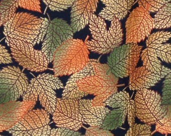 Leaf print fabric Hallowgraphix II by Jason Yenter 2012 62 x 88 in In The Beginning