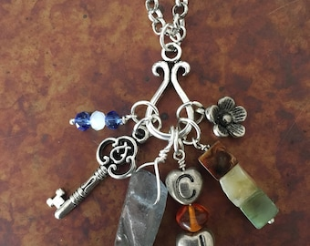 Outlander Inspired Jamie & Claire Charm Necklace