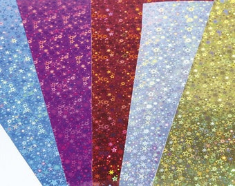 Assorted 5 holographic cards 25 x 35 cm - Maildor - Ref 354695C (prismatic cardboard sheet) - while quantities last!