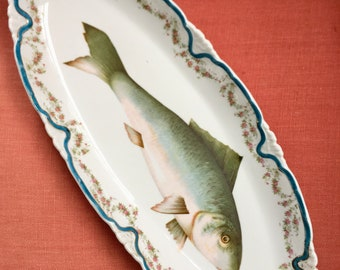 Vintage Fish Platter Early 1900s