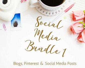 Social Media Bundle - Social Media Plan - Social Media Posts - Pinterest - Blog Posts - Social Media Manager