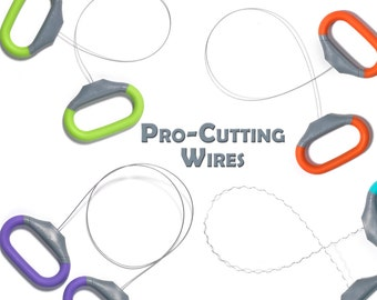 Xiem Pro-Cutting Wires, Pottery Cut-Off Tools, Wire Clay Cutter, Slicing Tools, Cutting Pots Of The Wheel,   Straight Curly Wires