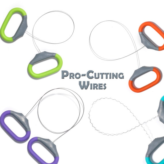 Xiem Pro-Cutting Wires, Pottery Cut-Off Tools, Wire Clay Cutter ...