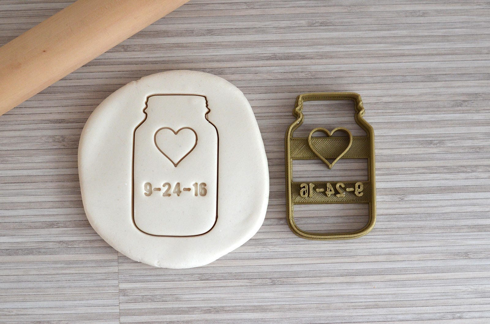 Custom jar cookie cutter with name - Love jar cookie cutter with ...