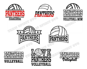 Panthers Volleyball Bundle! Save Big! Download Files - SVG, DXF, EPS, Silhouette Studio, Vinyl, Digital Cut Files -Use with Cricut and more!